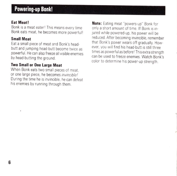 File:Bonk's Adventure TG16 US Manual.pdf - NEC Retro